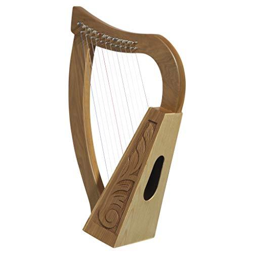Design Toscano Keltische Tara-Harfe aus Rosenholz, 10 x 30,5 x 52 cm