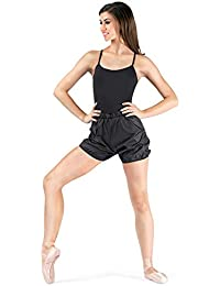5551d2347f9e6 Body Wrappers Women's Women Rip Stop Short 746Blkl Black Large
