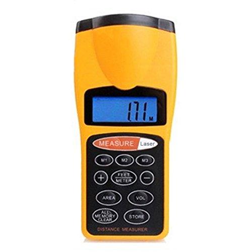 CP 3007 Range Finder   Medidor de distancia ultrasónico (medidor de distancia, medidor de distancia, herramienta de medición de distancia/puntero láser, pantalla LCD digital ultrasónica, resistente al agua)