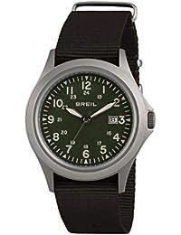 Orologio BREIL uomo ARMY quadrante verde e cinturino in sintetico nero, movimento SOLO TEMPO - 3H QUARZO