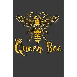 Queen Bee: 120 Seiten (6x9 Zoll) Liniertes Notizbuch für Queen Bee Freunde I Bienenkönigin Journal I Bienen Notizblock I Honig Notizheft