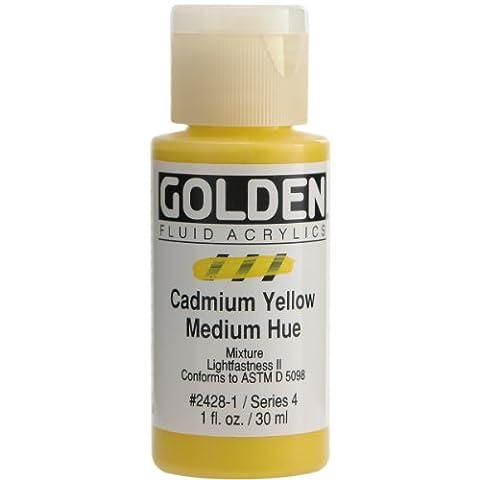 Pro-Art Golden Fluid Acrylic Paint 1 oz.-Cadmium Yellow Medium Hue