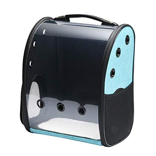 hinffinity Haustier-Tragetasche, zusammenklappbar, für Haustierkäfig, für kleine Hunde und Katzen, belüftetes Design, tragbar, 42 x 35 x 24 cm blau