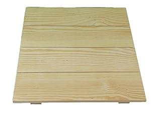 Tabla de madera cuadrado. En