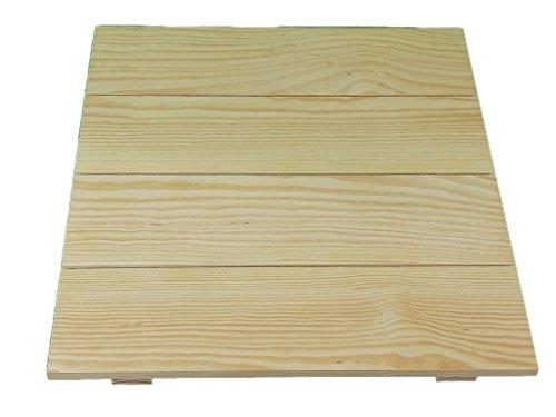 Tabla de madera cuadrado. En pino