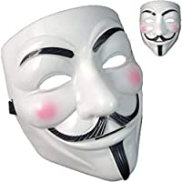 QUNPON Halloween-Maske,V for Vendetta Guy Fawkes Face Mask Fancy Halloween Cosplay
