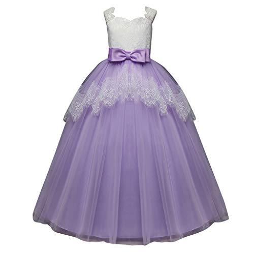 POPLY Kinder Kleid Kinder Mädchen Bowknot Prinzessin Formale Kleid Partei Ärmellos Hohe Taille Tutu ()