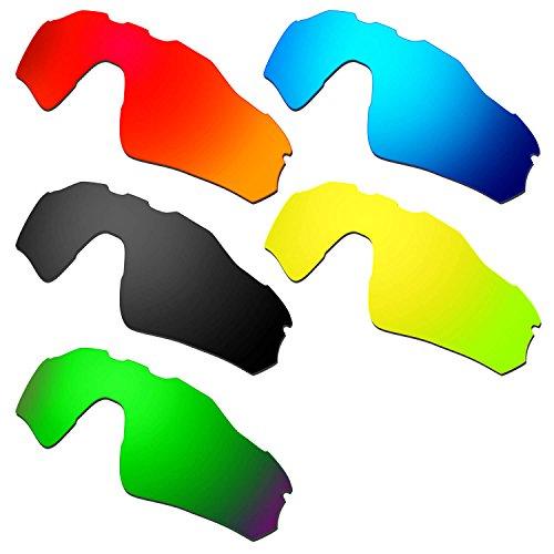 HKUCO Mens Replacement Lenses For Oakley Radar EV Path Red/Blue/Black/24K Gold/Emerald Green Sunglasses
