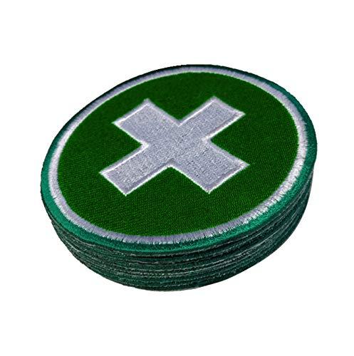 Budodrake Erste Hilfe Aufnäher/First Aid Patch grün-weiß