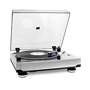 auna tt 1201 usb platine vinyle usb avec fonction num risation bras lumineux pitch r glable. Black Bedroom Furniture Sets. Home Design Ideas