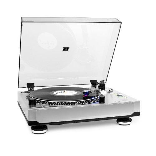 ttenspieler Schallplattenspieler für PC (Pitch-Bereich von +/- 10%, 33, 45 U/min, digitalisieren / MP3 Konverter, inkl. Software) Silber ()