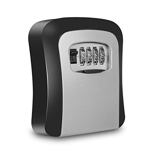 Acelink Box mit Zahlenschloss für die Wandmontage, Safe mit 4-stelliger Zahlenkombination, großer internen Speicher, ideal für Haus, Büro und Garage, sehr robust