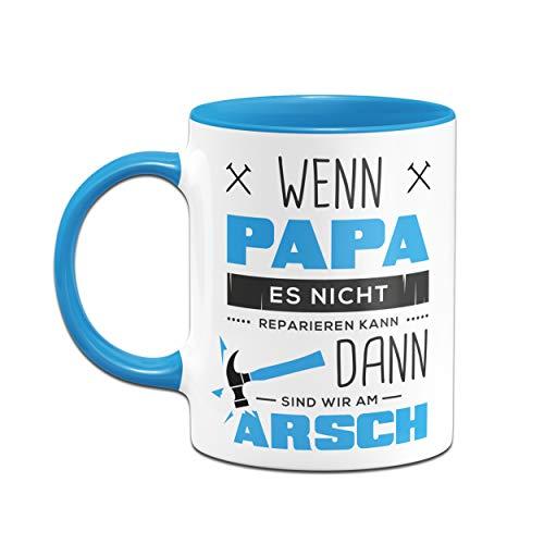 Tassenbrennerei Tasse mit Spruch Papa Reparieren - Geschenk für Papa, Vater - Geburtagsgeschenk,, Vatertag - Tassen mit Sprüchen lustig (Blau) - 2