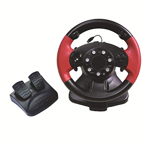 Coolol Racing Wheel - USB Gaming Lenkrad für PC, 270 ° Racing Lenkung PS4 / PS3 / PC/XBOX-ONE/XBOX-360 / Umschalter/Android-Spiellenkrad,Red