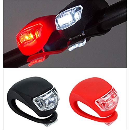 chivalrylist wasserdichte 3 Modus-Einstellung Ultra Bright LED 2 x CR2032-Batterien passend für alle Fahrräder, am Rucksack befestigt, Helm, Jacke
