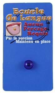 Faux Piercing Langue Bleu Foncé Bioflex