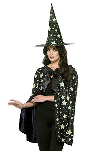 Smiffys SMIFFY 'S 48020Midnight Witch Kit, schwarz, one Size (Glow Halloween-kostüme Dark In The Ideen)