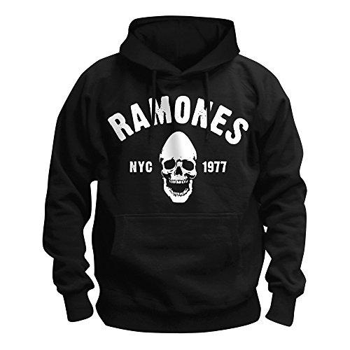 The Ramones - Premium Herren Kapuzenpullover - Pinhead (Schwarz) (S-XL) (S) (Cap Skull Deluxe)