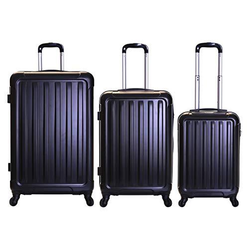 Slimbridge Lydd juego de 3 maletas duras, Negro
