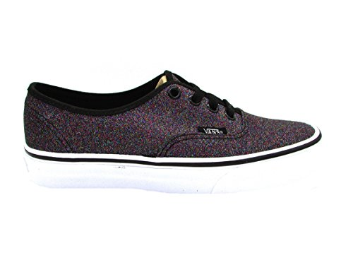 Vans Authentic Glitter (Vans Damen Authentic Sneaker, Schwarz (Glitter), 38 EU)