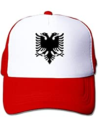 db1e9c8863c Albanian Double Headed Eagle Trucker Cap with Mesh Adjustable Hat Caps Black