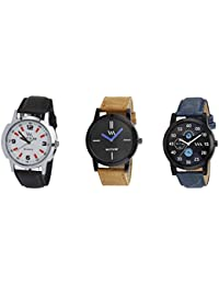 Watch Me Gift Combo Set For Him/Watches For Men/Watches For Boys (watches 3 Combo/watches 2 Combo) WMC-002-BR-AWC... - B0778NN279