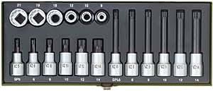 Proxxon 23296 Coffret clés à douille pour vis XZN 18 pièces