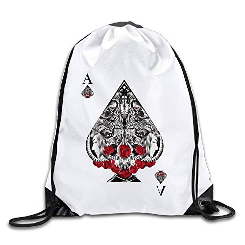 fhjhfgjghfjghfj Ace Of Spades Drawstring Backpack Sack Tasche/Travel Tasches -