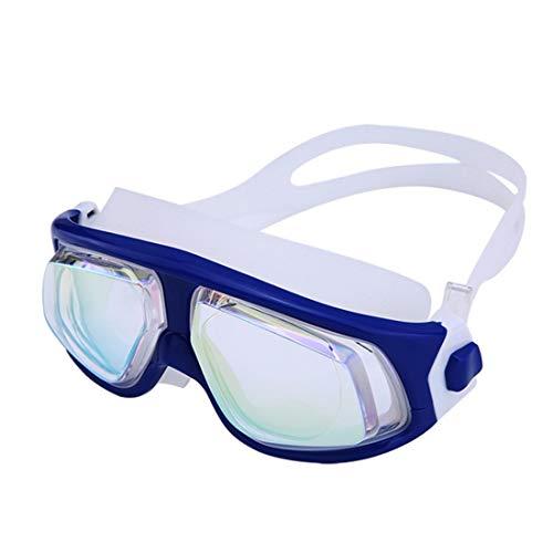 Lightpurple Bunte Brille mit großem Rahmen und wasserdichter Schwimmbrille für Frauen (Color : G)