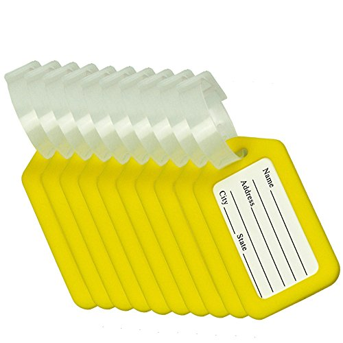 eranhänger Gepäckanhänger für Koffer Luggage Tags - Gelb ()