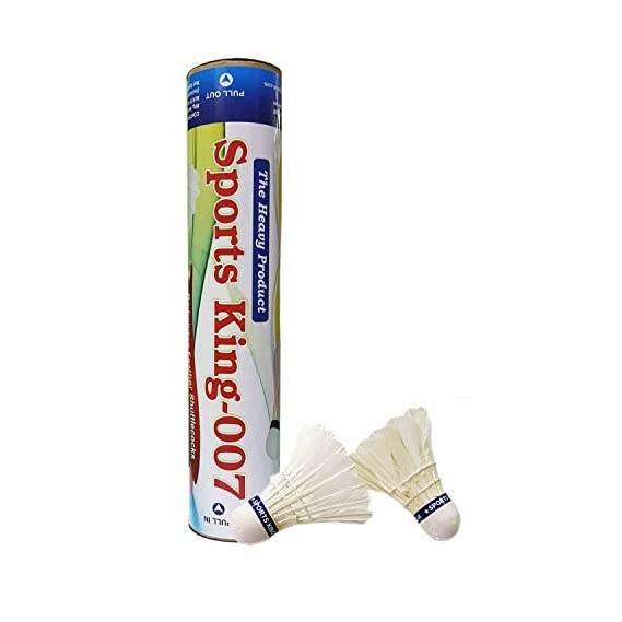Sports King 007 - Badminton Feather Shuttlecock Pure White (1 Box of 10 Pcs)