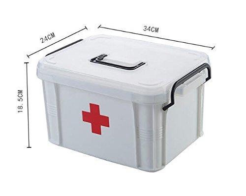 Reise-medizin-schrank (uctop Store 34x 24x 18,5cm Double Layer First Aid Kit Aufbewahrungsbox Familie Medizin Schränke Haushalt tragbar Medical BOX für Home Reisen Camping Büro Schule)