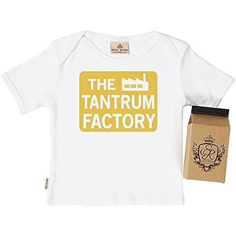 Sr–The Tantrum Factory Baby & Toddler T-Shirt 100% orgánico en cartón de leche