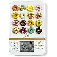 Senya balance cuisine nutritionnelle tactile Smart Scale, balance alimentaire écran LCD de haute précision, calcul des apports énergétiques, plateau en verre, SYCP-KS001