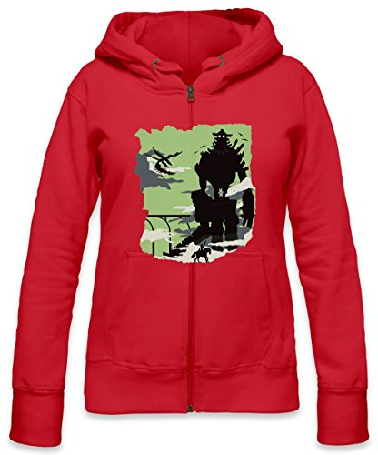 (Silhouette Of The Colossus Womens Zipper Hoodie X-Large)