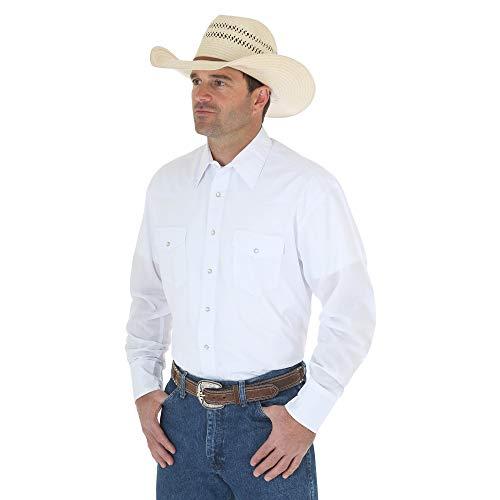 Wrangler Herren Sport Western-Shirt mit Zwei Taschen, langärmlig - Weiß - XX-Large -