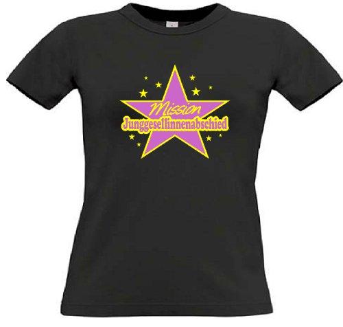 T-Shirt für den Junggesellinnenabschied mit dem Motiv Mission Junggesellinnenabschied Black