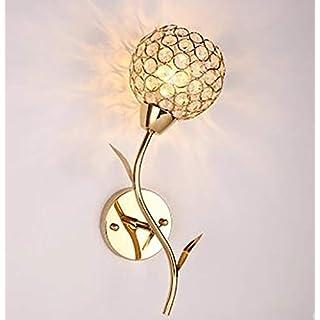 ZAOFAN Wall Light LED Wash Fixtures Modern Lighting Lamp Spotlights Indoor Sconce lampshade Gold K9 Crystal Flower Iron Bedroom Bedside Living Room Dining Bathroom Cafe Bar Aisle Stair,Gold,nolight