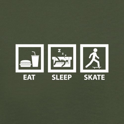 Eat Sleep Skate - Herren T-Shirt - 13 Farben Olivgrün