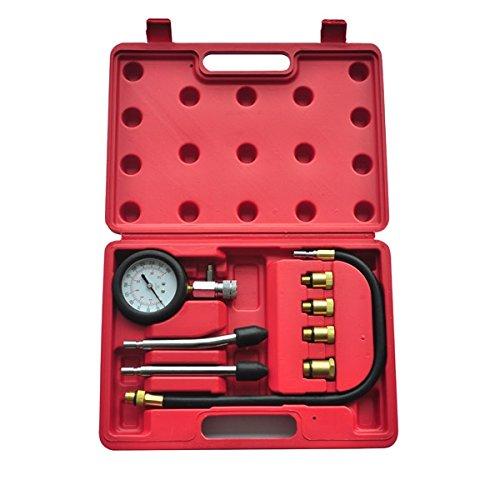 vidaXL 210005 - Valigetta con Tester di Compressione per Motori a Benzina, 9 Pezz