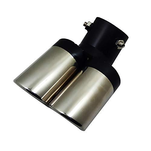 Preisvergleich Produktbild LIDAUTO Autopfeifen Teile Doppelausgang Endrohr Kfz-Auspuffspitze Rostfreier Stahl 160 * 63mm Universal