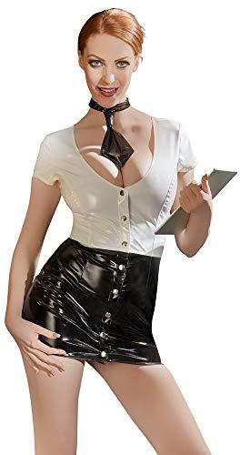 Black Level Vinyl Secretary Kleid, - Hot Sekretär Kostüm