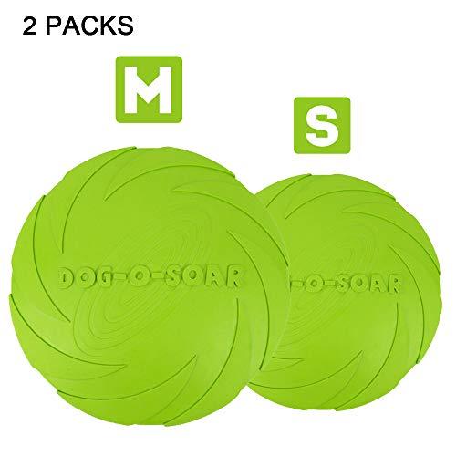 YOCC Dog Frisbee Kong, Naturkautschuk-Haustier-Wasserschüssel 7-Zoll-Pet Training Outdoor-Spielzeug für kleine und mittlere Hunde,S&M -