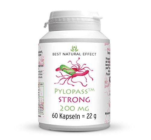 Pylopass STRONG 200mg pro Kapsel | 60 Kapseln | für die diätetische Behandlung von Helicobacter pylori Infektionen || Best Natural Effect