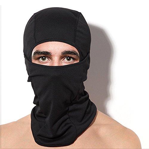 Shinymod Balaclava Ski Maske, Unisex UV-Schutz Full Winter Biker Snowboard Gesicht Masker Motorrad Black Baklava Radfahren Hut Jagd Tactical Hood Wärmer Cover für Männer Frauen