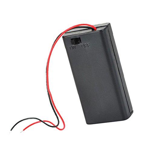 Sharplace Batteriehalter, 2X AA, geschlossenes Gehäuse, on/Off Schalter -
