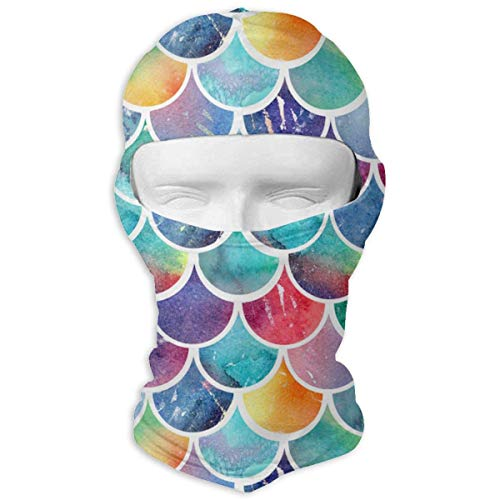 Mermaid Diamonds Balaclava Face Mask for Windproof UV Protective Hat for Cycling Motorcycle Skiing - Diamond Knit Hat