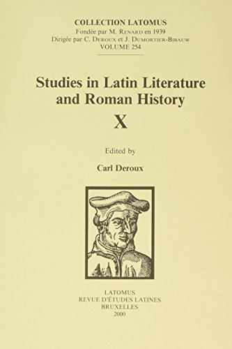 Studies in Latin Literature and Roman History