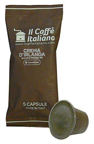 Preisvergleich Produktbild 50 Kaffeekapselmaschine Kaffee Gewürz Creme von Irland vereinbar für alle Nespresso Maschinen-Nespresso kompatible kaffeekapseln - 50 kaffeekapseln kompatibel Nespresso Maschinen - Il Caffè Italiano