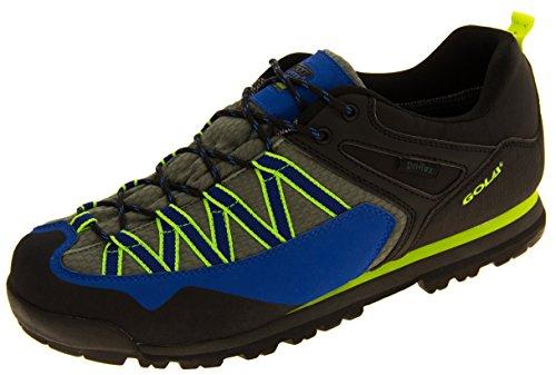 Uomo Gola grigio a piedi scarpe impermeabile sintetico Trekking Grigio e Blu